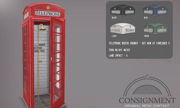 Consignment - Phone Booth Shower.