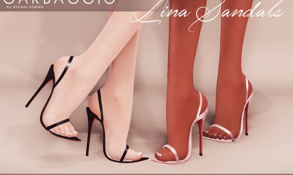 Garbaggio - Lina Sandals. Individual L$99 each | Mini Pack L$299 | Fatpack L$499. Demo Available ★.