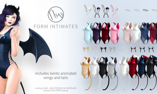 Neve - Form Intimates. Mini Packs L$275 | Fatpack L$825. Demo Available ★.