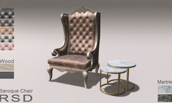 RSD - Baroque Chair. PG L$490 | Adult L$990 | Table L$99.