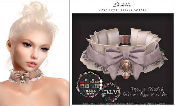 Dahlia - Leyla - Kitten Collar. Individual L$199 each | Fatpack L$699.