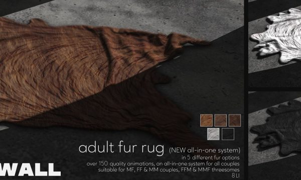 Fourth Wall - Adult Fur Rug. L$1299.