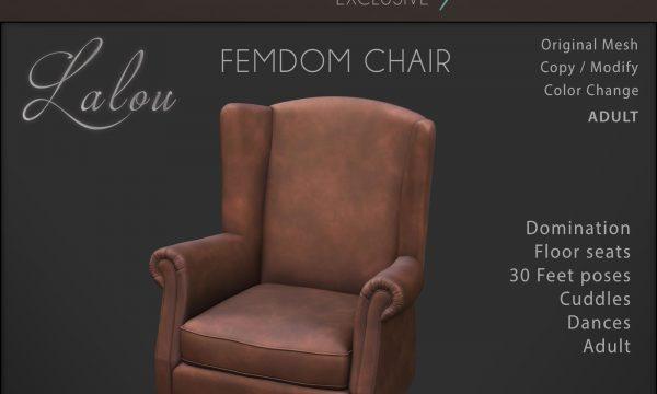 Lalou - Femdom Chair. L$1950.