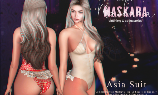 MasKara - Asia Suit. Individual L$225 each | Fatpack L$2,250 Demo Available ★.