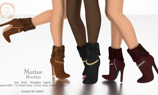 NaaNaa's - Mattar Booties. L$399 Demo Available ★.