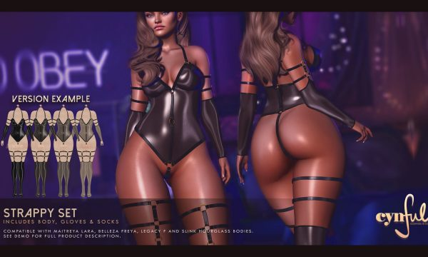 Cynful Clothing & Co - Strappy Set. Individual L$299 each | Fatpack L$1,999 Demo Available ★.