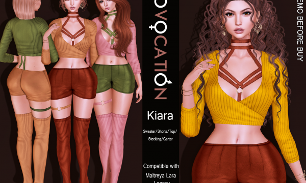 [Provocation] - Kiara Outfit. Individual L$150 - L$200 each | Fatpacks L$200 - L$900 each | Megapack L$1,900 Demo Available ★.